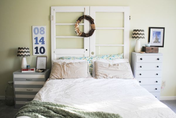 Mismatched Door Headboard